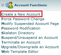 Customer Account - Open a New Account