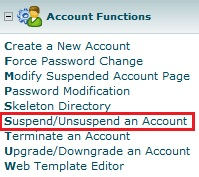 Customer Account - Suspension
