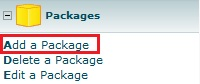 Web Hosting Packages - Create a Package