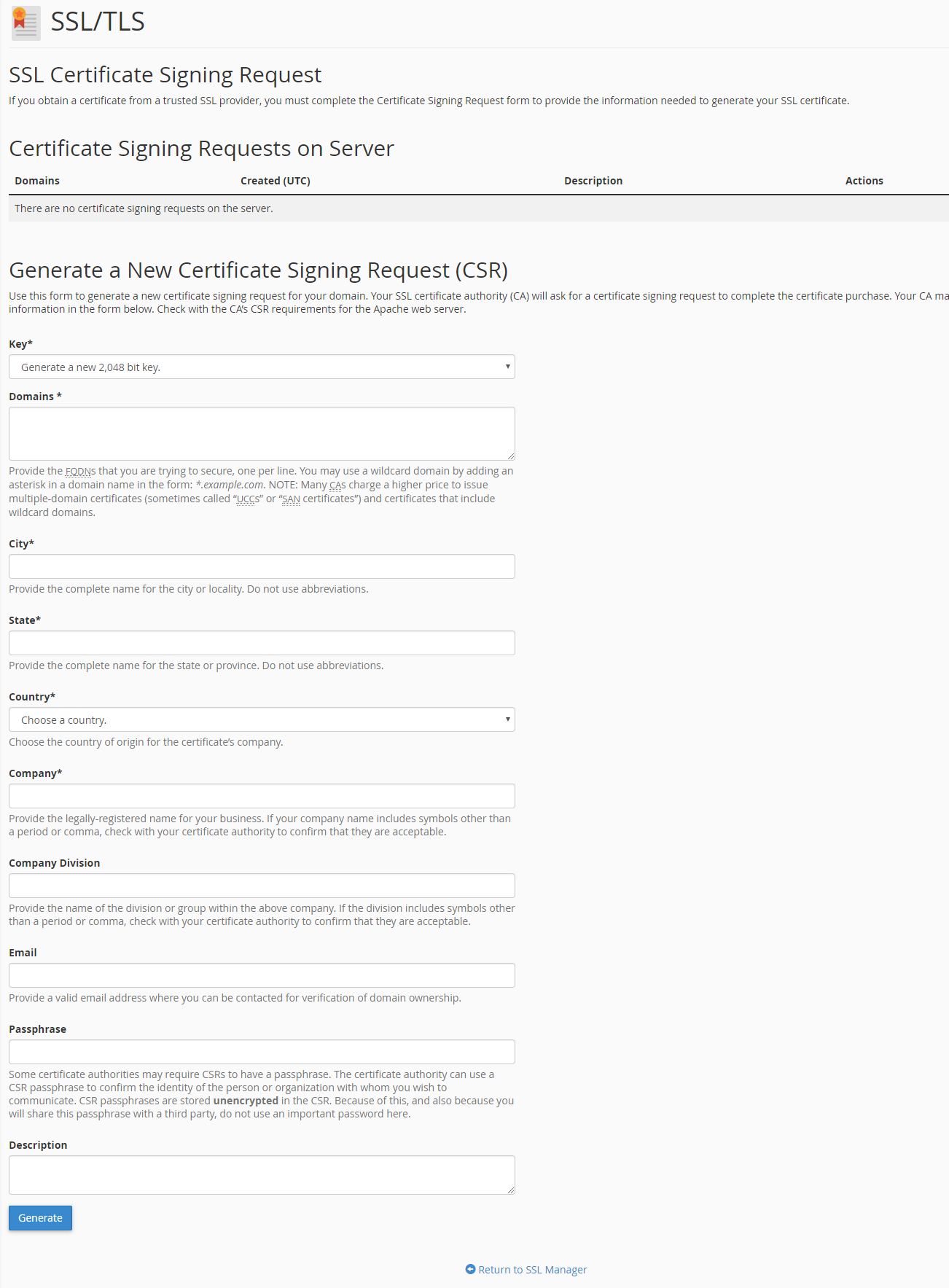 CSR Certificate Preparation