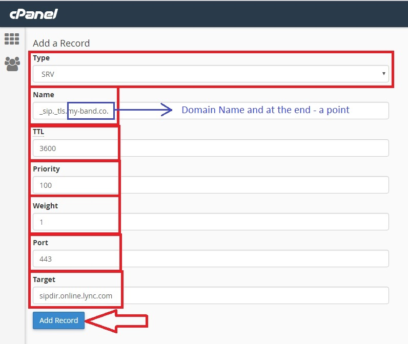 Domain Redirection for Using Office 365